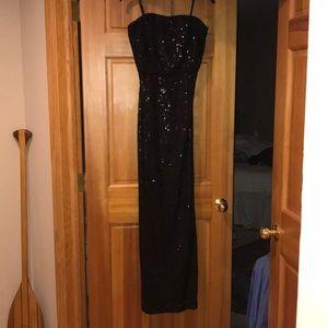 Sequined Ralph Lauren black gown